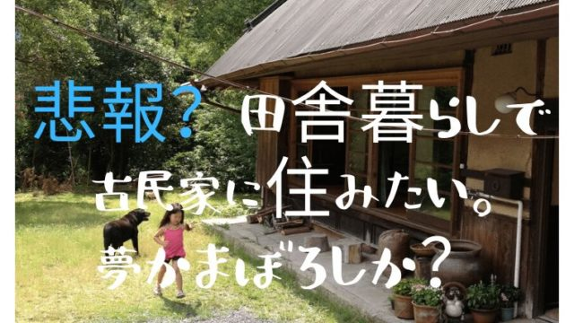 悲報?田舎暮らしで古民家に住みたい。 夢かまぼろしか?